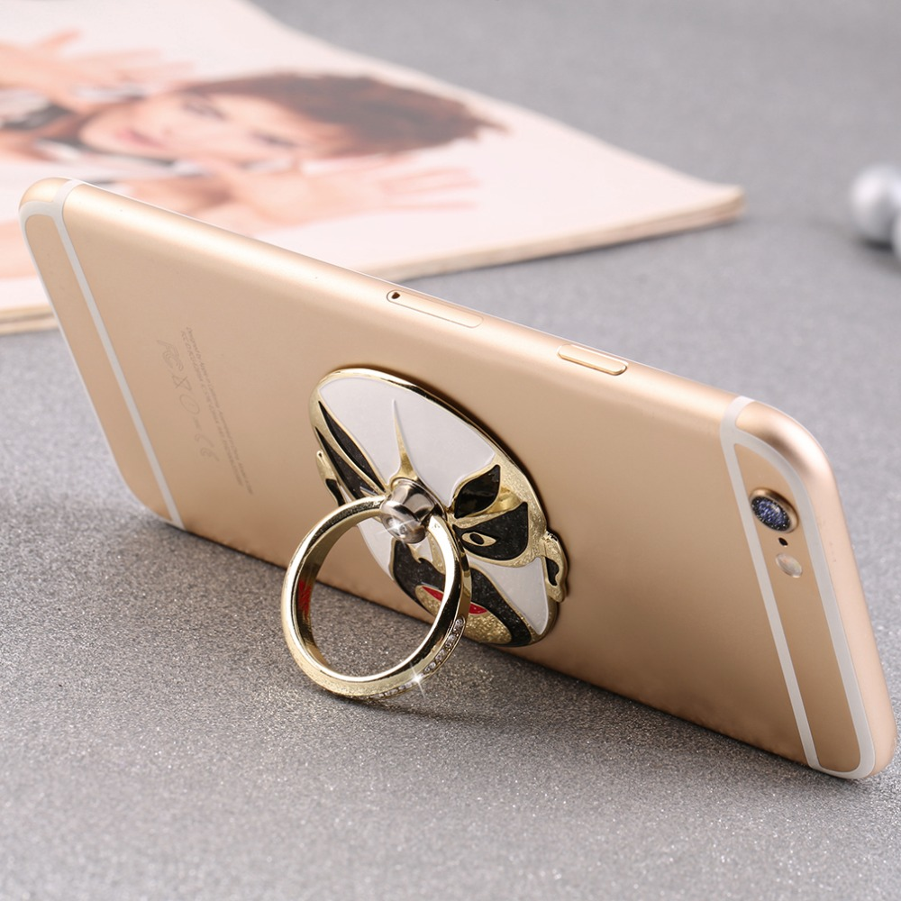 New Metal Stand Holder Mount 360 Rotating Face Ring for Cell Phone for iPhone Mobile facial makeup Promotion