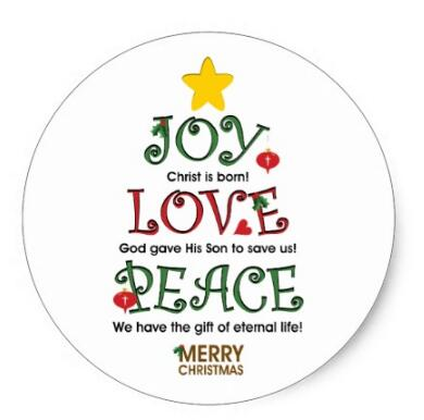 Christian Christmas.Us 20 0 1 5inch Christian Christmas Joy Love And Peace Classic Round Sticker In Stationery Stickers From Office School Supplies On Aliexpress Com