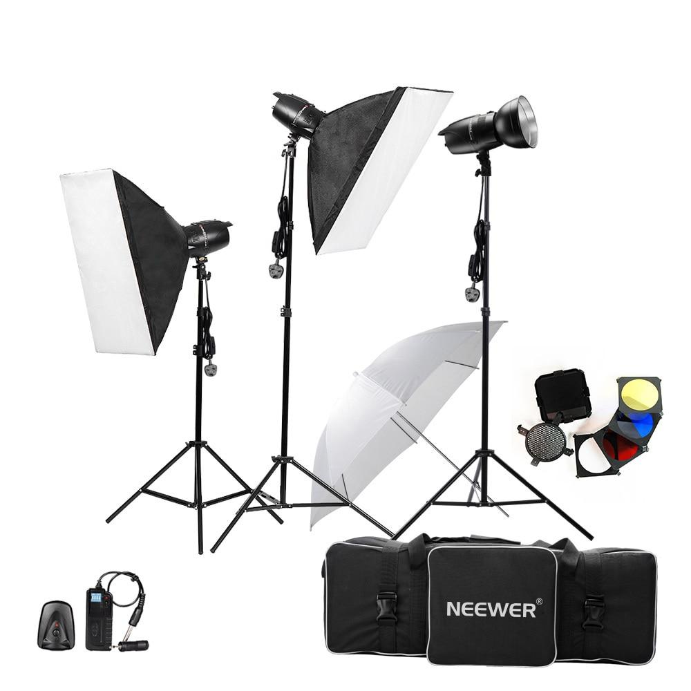 Neewer 750W(250W x 3)Professional Photography Studio Flash Strobe Light Lighting Kit for Portrait Photography Studio Video shoot