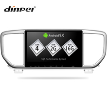 Dinpel 9 «Android 9,0 автомобильный мультимедийный плеер для KIA sportage 3 4 2018 2019 KX5 gps Навигация стерео Mp5 wifi PX30 2G + 16G