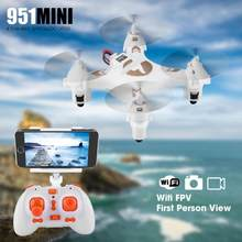 FQ777 951 Mini Drone Wifi 0.3MP Camera FPV LED Lights Remote Control Quadcopte Toy 360 degree LED lights Headless mode Drone(China)
