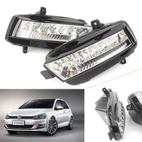 Auto LED DRL Daytime Running Lights Fog Lamp Light For Volkswagen Golf 7 MK7 2014 2015 2016 DC 12V