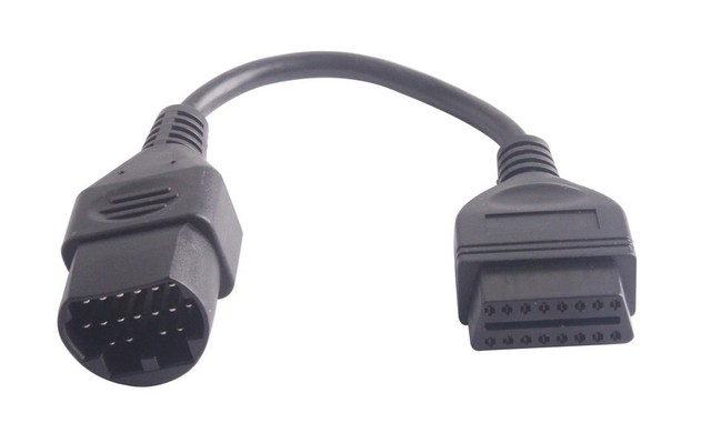 US $4 99 |High Quality Mazda 17Pin to 16Pin OBD2 OBD II Cable Connector  cable Mazda 17 pin connect adapter Free Shipping-in Code Readers & Scan  Tools