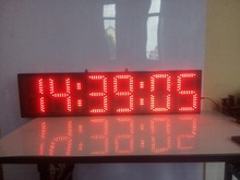 8inch 6digits hours,minutes and seconds  countdown LED clock free shipping(HST6-8R)