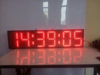 8inch 6digits hours,minutes and seconds countdown LED clock free shipping(HST6 8R)