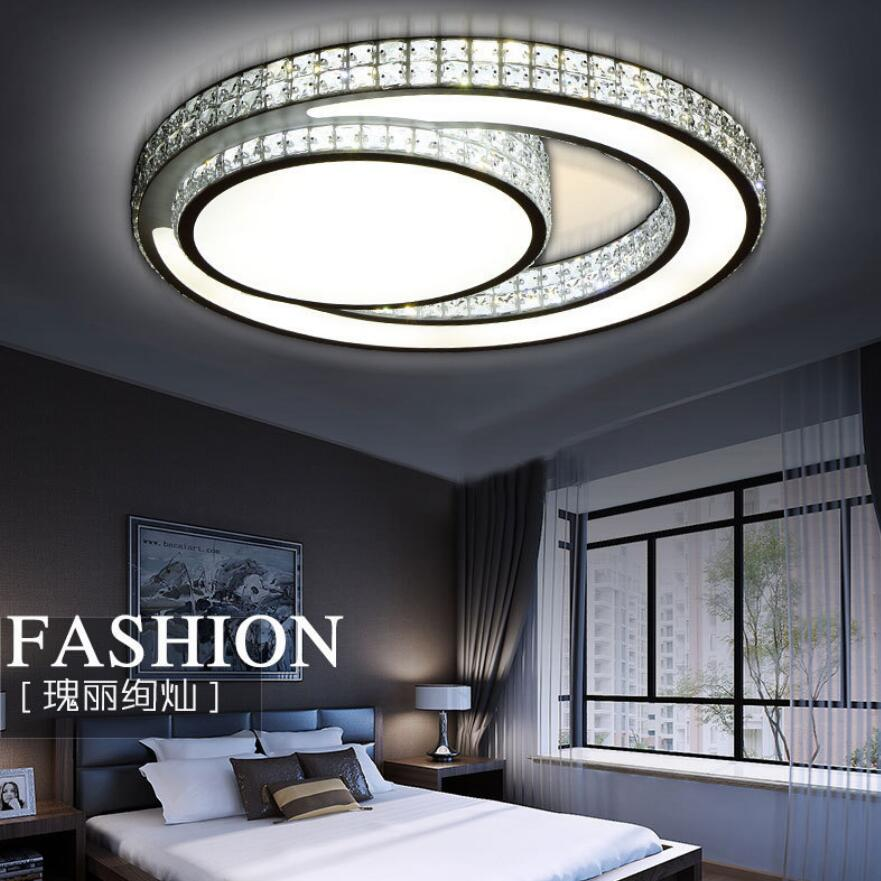 Modern K9 crystal led Ceiling Lights led lamps living room round crystal Ceiling lamps High power