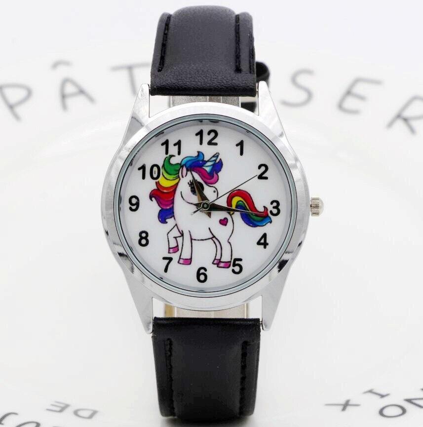 New Unicorn Desgin Kids Cartoon Watch Fashion Child Watches Quartz Children Jelly Boy Student Wristwatch Relogio Clock