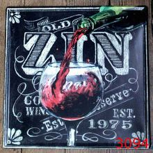 30X30CM Zin Wine Retro Vintage Home Decor Tin Sign For Wall Decor Metal  Sign Vintage Art