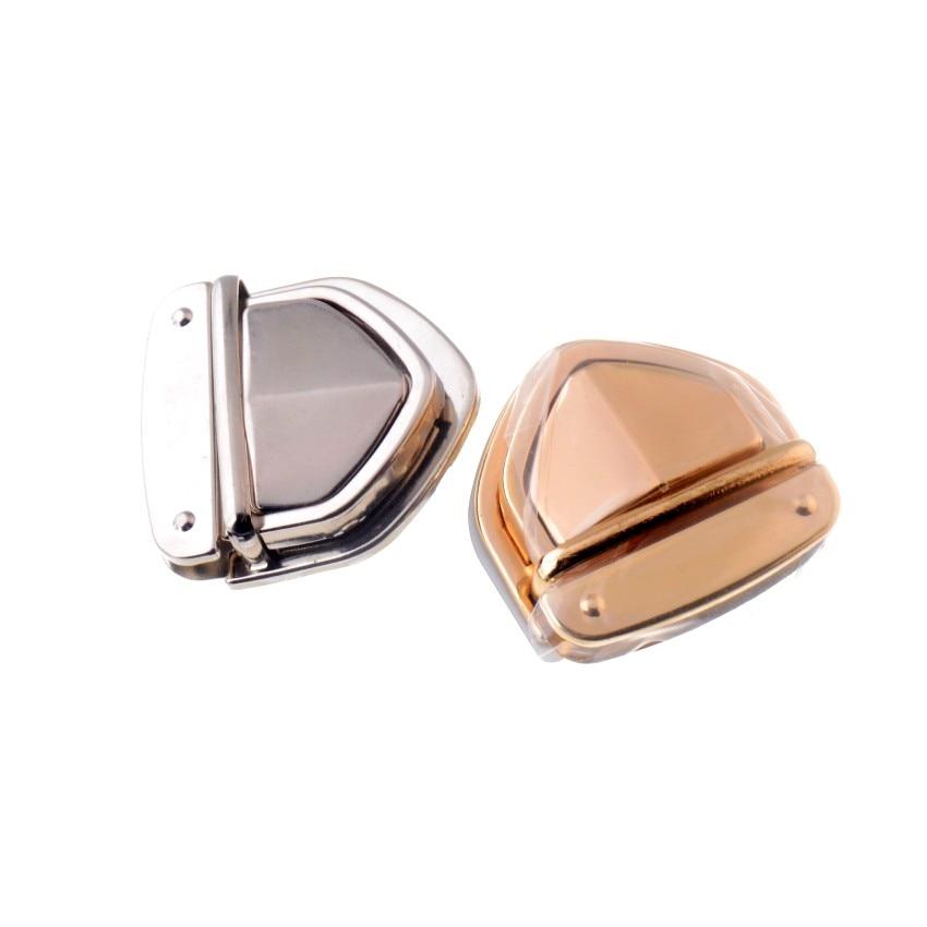 Free Shipping 1 Set Silver Tone/ Gold Tone Handbag Bag Accessories Purse Twist Turn Lock 34x52mm Buckles & Hooks