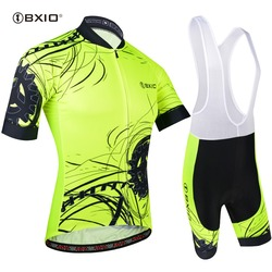 BXIO Short Sleeve Cycling Jersey Sets Fluorescence Ropa Ciclismo Cycling Clothing Maillot Ciclismo MTB Bike Clothing BX-0209M183