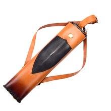 Orange Wonderful Handmade Italian Cow Leather Pearlfish skin Archery Arrows Back Quiver