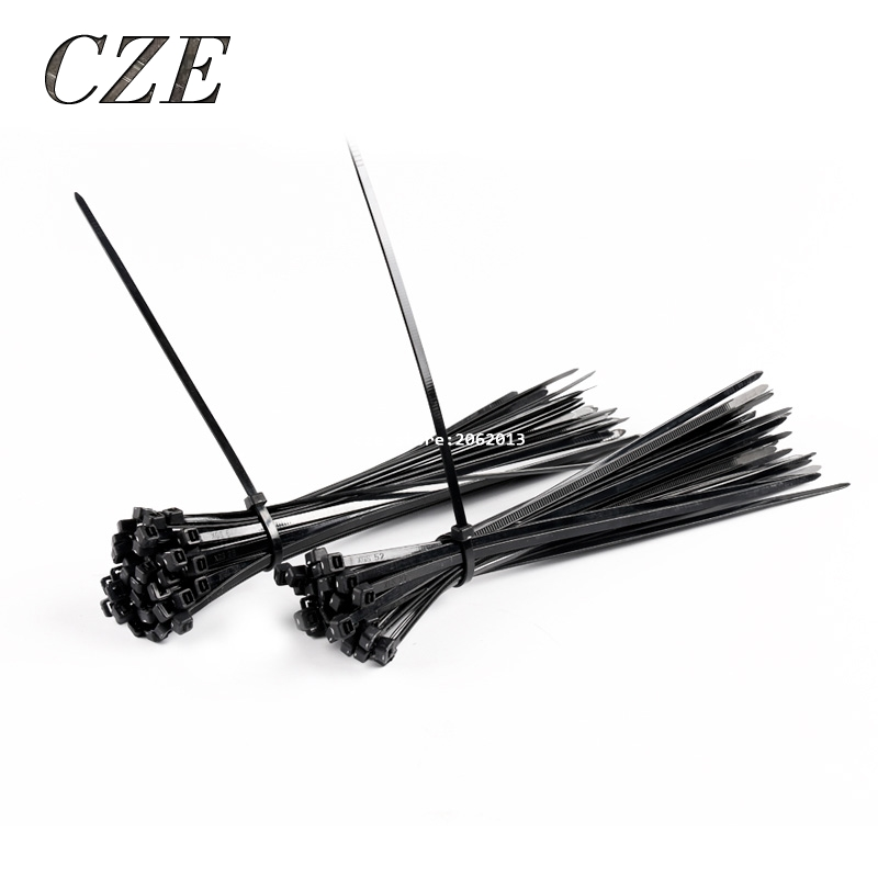free shipping sale 400pcs  lot 4 200mm cable tie self locking nylon wiring accessories black