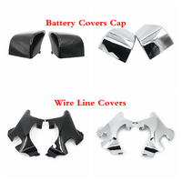 Neck Cover Cowl Wire Line Side Frame Guard Black Chrome Battery Fairing Covers Cap For Honda Shadow VT400 VT750 ACE 1997 2003