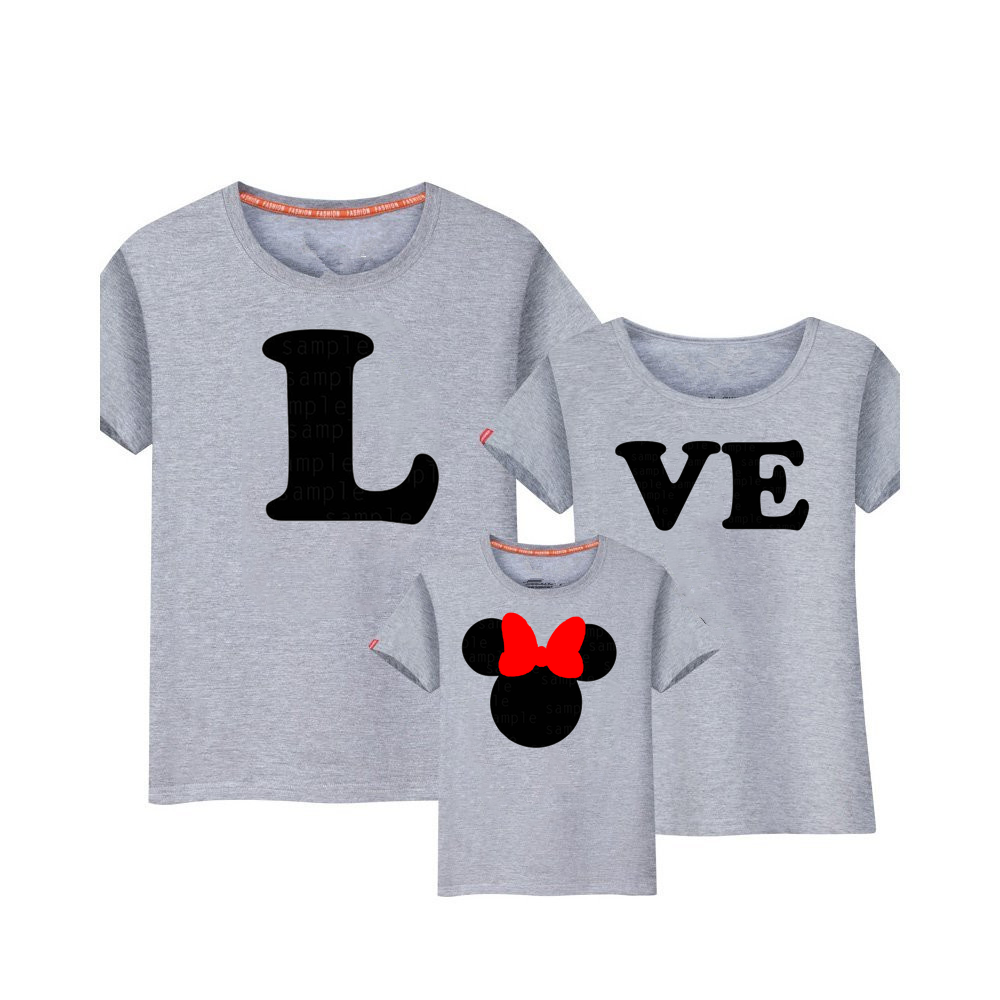 Mickey Mouse T-shirt Mamãe Bebê Dos Desenhos Animados Mickey Mouse Dos Desenhos Animados Família Roupas Combinando Mommy and Me Roupas dadChristmas Traje