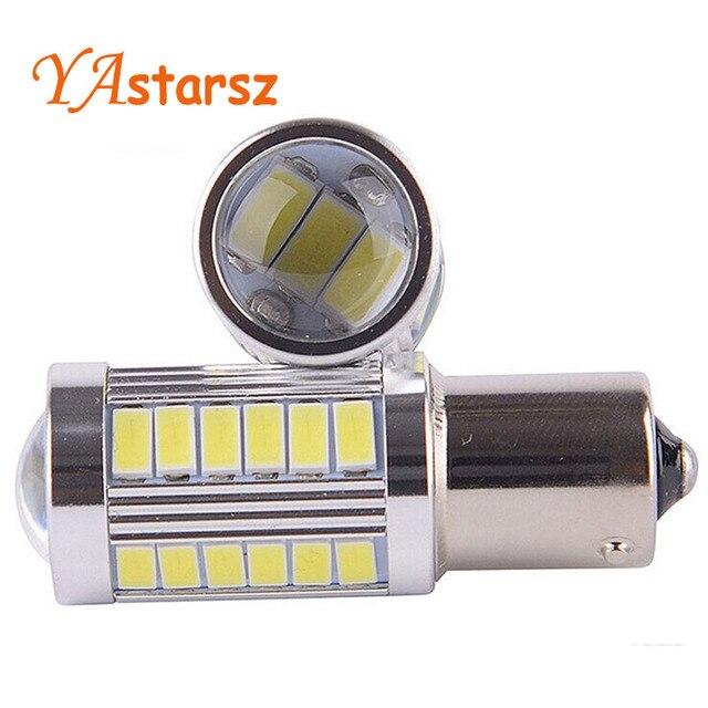 2pcs 1156 BA15S P21W 33 led 5630 5730 smd Car Tail Bulb Brake Lights auto Reverse Lamp Daytime Running Light red white yellow 2X