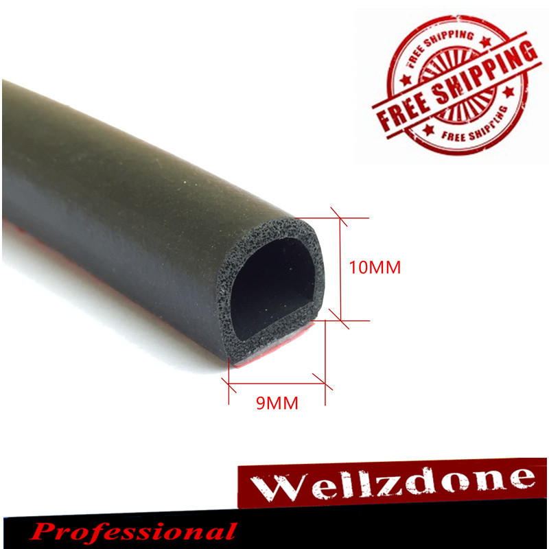 Small D Car Door Seal Rubber Waterproof Trim Sound Insulation Noise Sealant Strip Sound Proofing Sealing