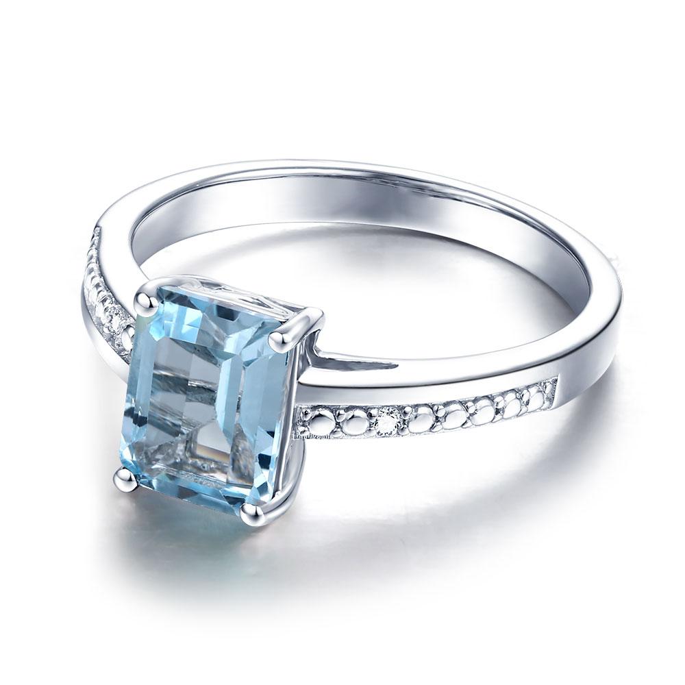 DOUBLE R Real Diamond 1.9ct Naturblautopas Edelstein 925 sterling silber ringe Stickerei-in Ringe aus Schmuck und Accessoires bei  Gruppe 2