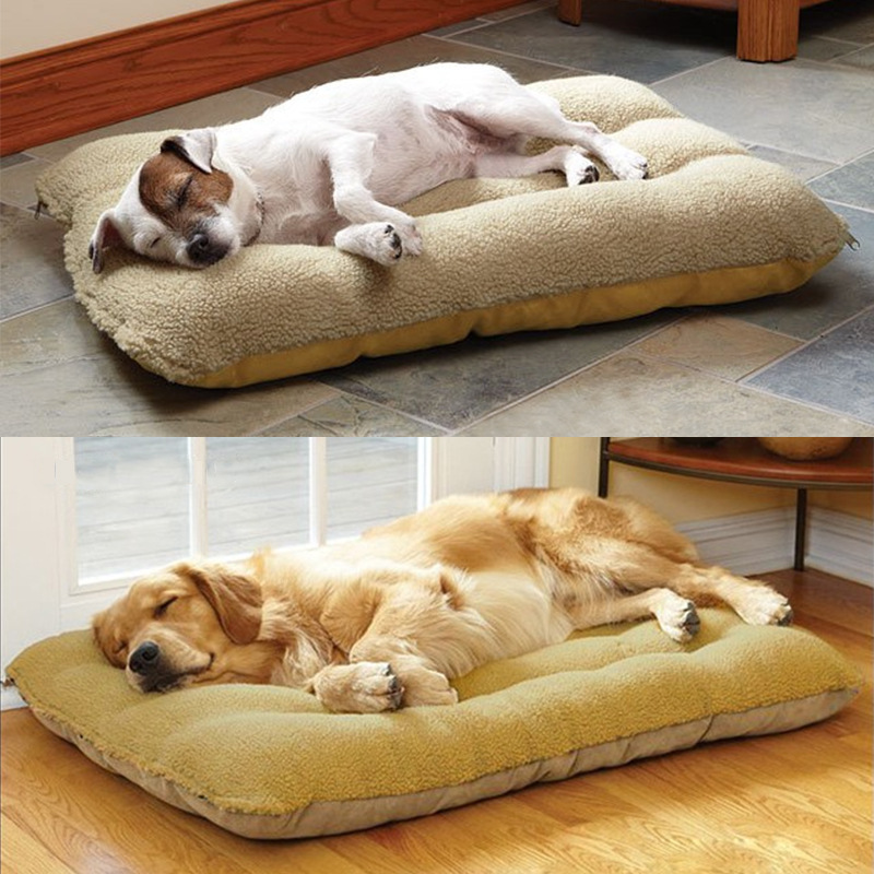 120*80 cm Big Size Large Dog Bed Cat Bed Super Soft Pet Dog Bed Cage Mat Pet Puppy Bed Washable Breathable Mat Dog Kennel