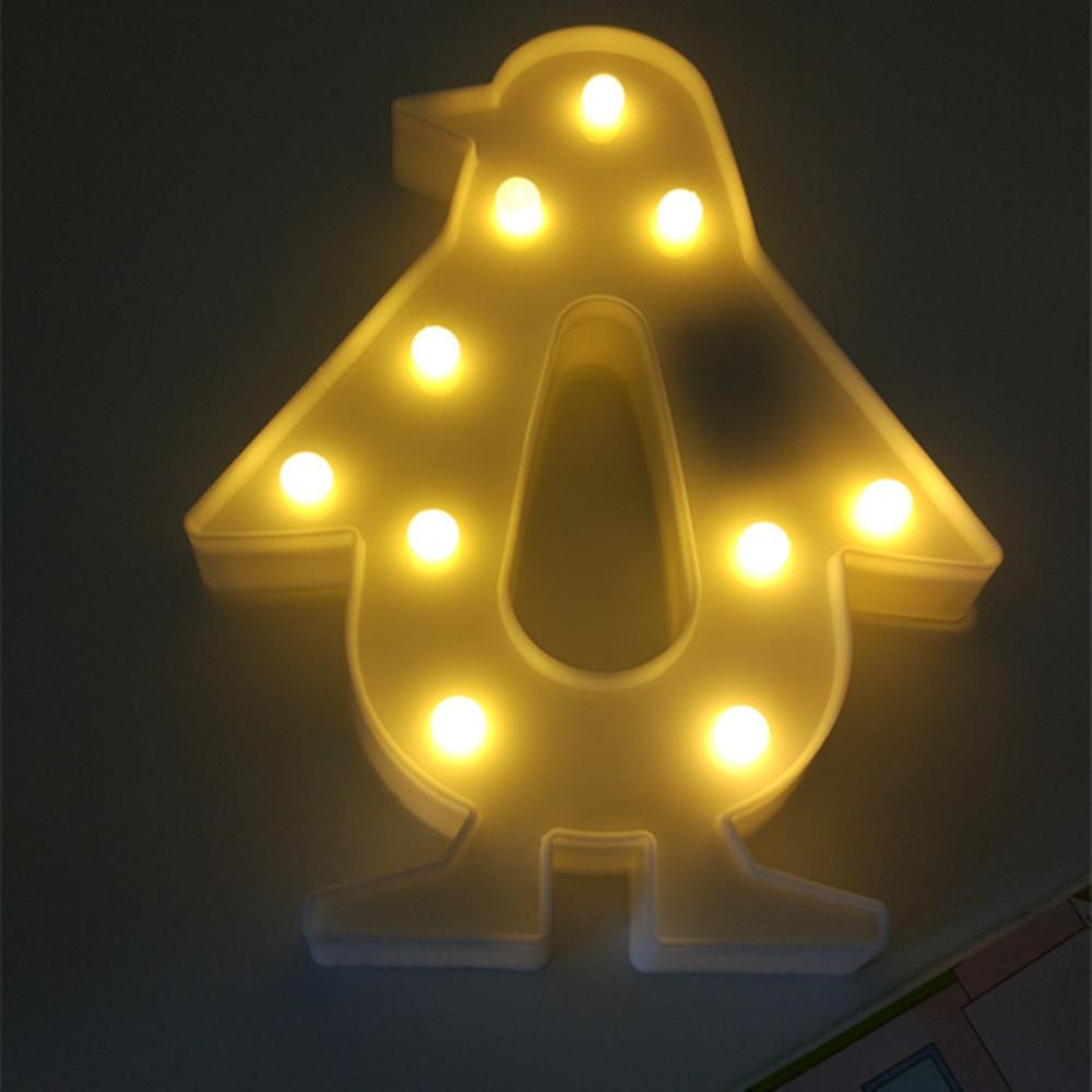YIYANG 3D Butterfly Unicom Penguin Flamingo Table Desk Night Lamp LED Night LightHome Christmas Decor Battery LED Nightlights