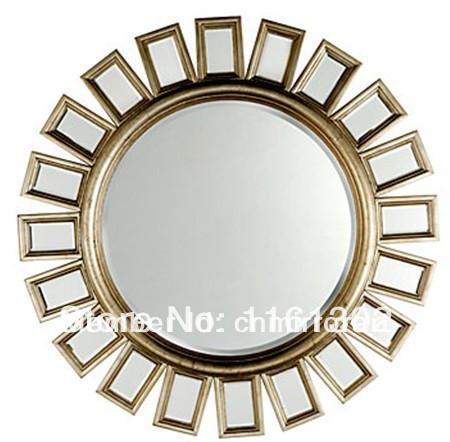 Cheap Wall Mirrors popular round wooden wall mirror-buy cheap round wooden wall