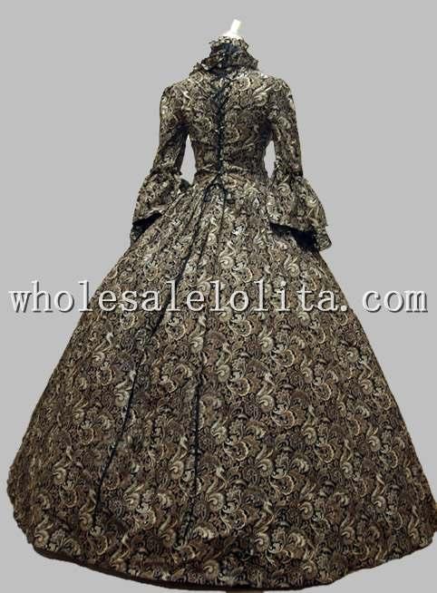Grúz viktoriánus gótikus periódusú ruha öltöztetős - Jelmezek - Fénykép 3