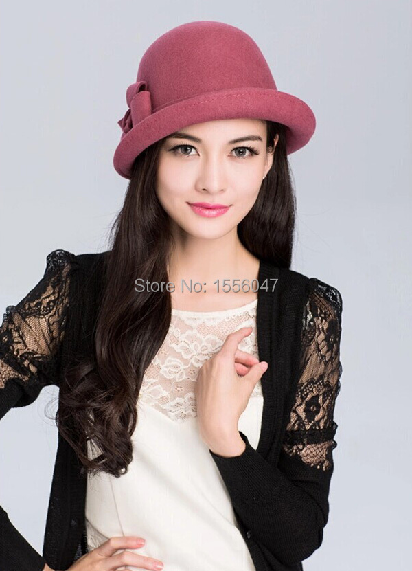 High Quality Women Fashion Warm Wool Felt French Beret Hat Cap British  Style Hemming Hat Free Shipping Red Pink 17015b05588