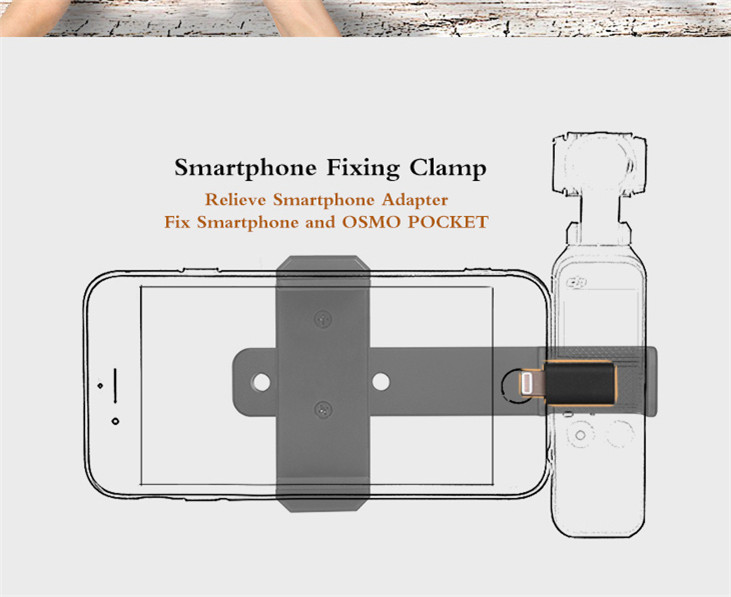 OSMO Pocket Smartphone Fixing Bracket Stand Clamp Extending Rod Tripod for DJI OSMO POCKET Gimbal Accessories 2