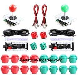 Joystick de arcada diy kit zero atraso usb controlador pc para arcade joystick + botões chicote de fios para mame & raspberry pi 3b