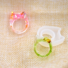 Flower Invitation Cat head ring mold_ MD1131_DIY manual Epoxy mould 2017 New Arrival