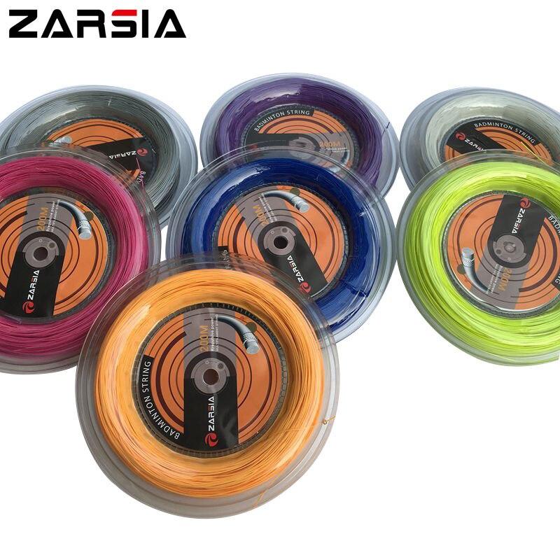 1 Катушка/lot zarsia 0.7 мм Бадминтон строка Катушка 200 м (8 видов цветов) напряжение 24-28lbs