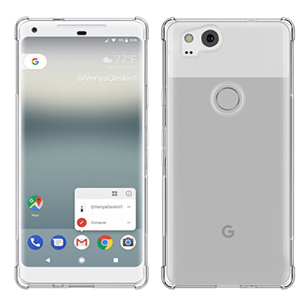 Crystal Clear Anti-Slip Anti-Scratch Shockproof Durable Flexible TPU Soft Case Cover For Google Pixel 2/Pixel 2 XL