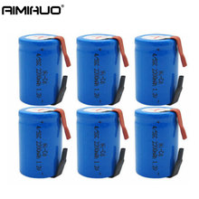 1-20pcs 4/5 SC Sub C Ni-Cd 1.2V 2200mAh Rechargeable Battery with Tab Blue Batteries for Shaves Emergency Lighting Radios