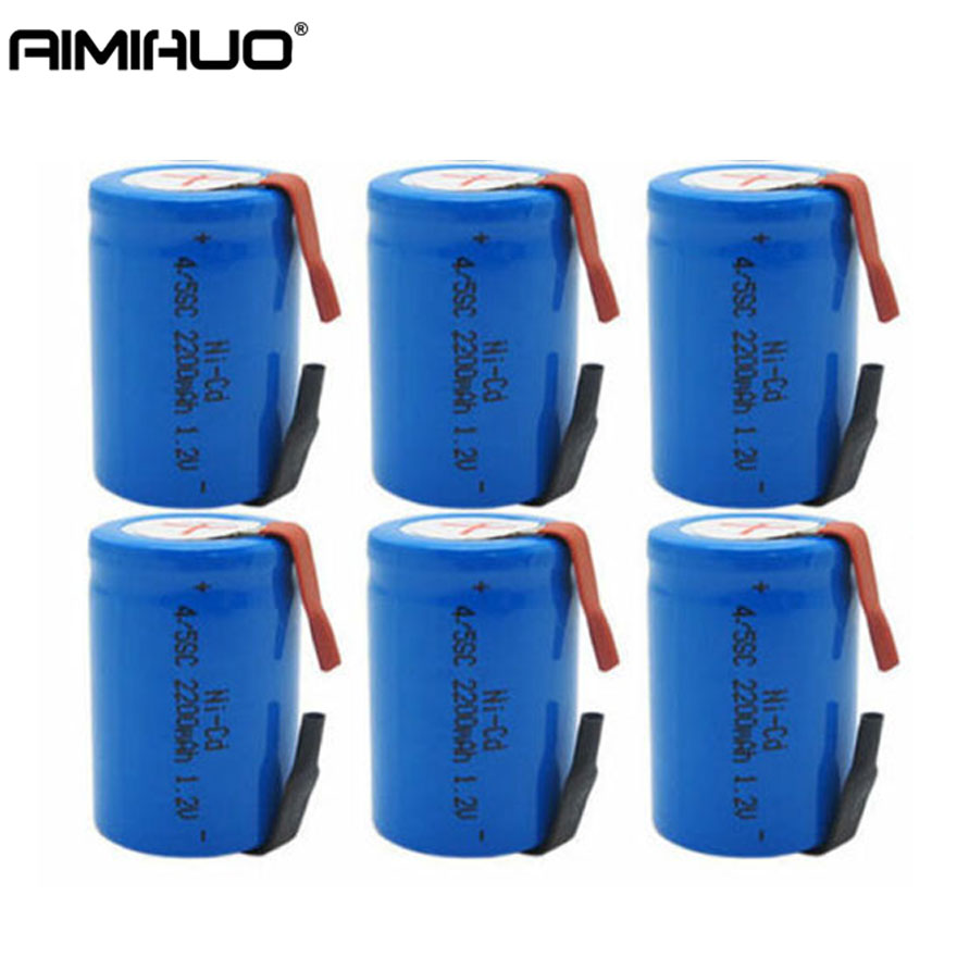 1-20pcs 4/5 <font><b>SC</b></font> Sub C <font><b>1.2V</b></font> 2200mAh Ni-Cd <font><b>Rechargeable</b></font> <font><b>Battery</b></font> with Tab Blue Ni-Cd <font><b>Batteries</b></font> for Shaves Emergency Lighting Radios image