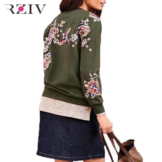 RZIV 2016 осенью и зимой женщины досуг цветы вышивка устанавливает вязаные свитера