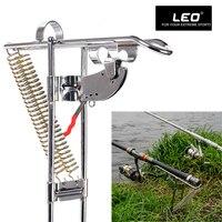 Leo Fishing Bracket Rod Holder Automatic Double Spring Angle Fish Pole Tackle Bracket AntiRust Stainless Steel