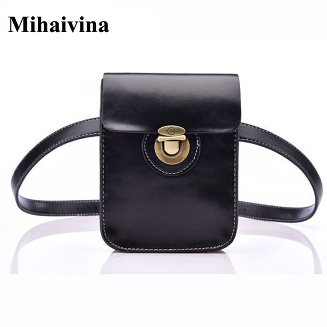 Mihaivina Women Waist Pack Casual Female Small Belt Bag Fashion Women Waist Packs Fanny Pack Phone Pouch Bags Bolosa