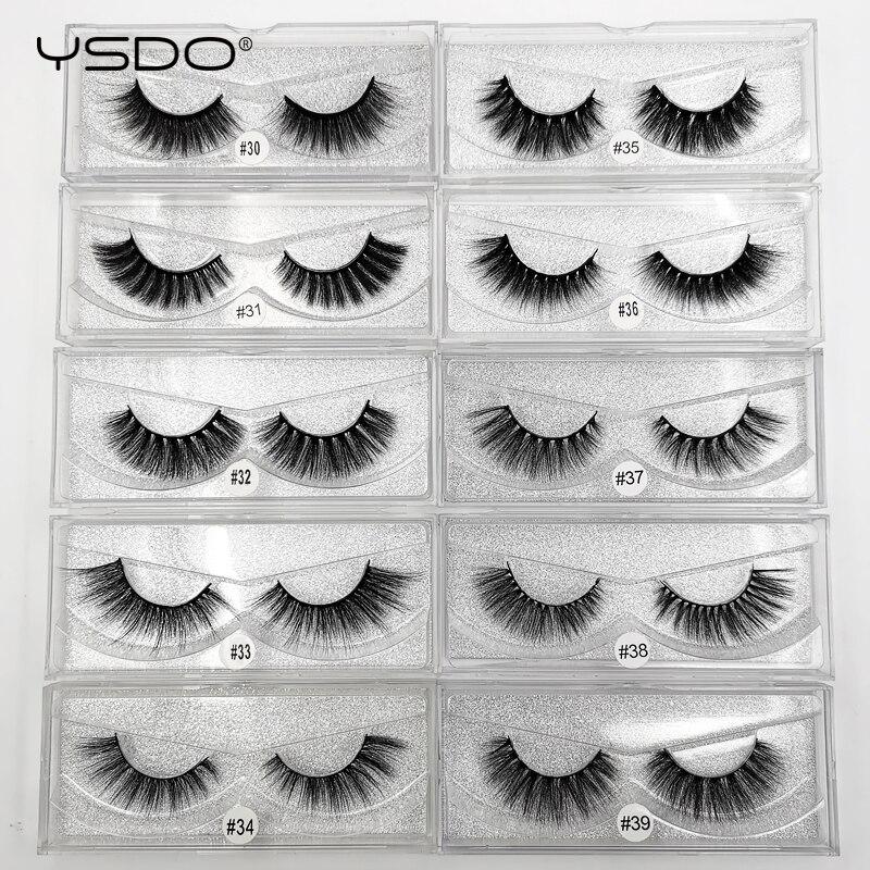 YSDO 1 caixa de vison cílios cílios vison 3d cílios postiços maquiagem cílios tira completa cílios naturais falso vison cílios 3d cílios