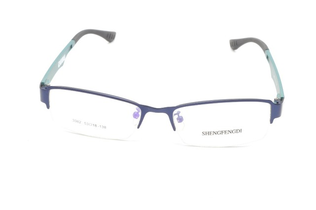 263539ed6c 2016SEMI-RIM ALLOY FASHION BLUE MEN WOMEN GLASSES FRAME CUSTOM MADE OPTICAL  MYOPIA AND READING