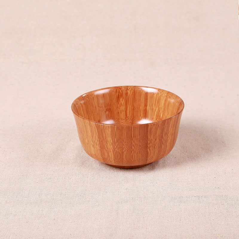 Natural bamboo bowl kids dinnerware kitchen tools dish salad bowl eco-friend safe E0 standard natural