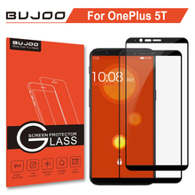 ФОТО 2 pack 100% original bujoo real 2.5d 0.3mm 9h full cover tempered glass for oneplus 5t screen protector one plus 5 t 1+5t film