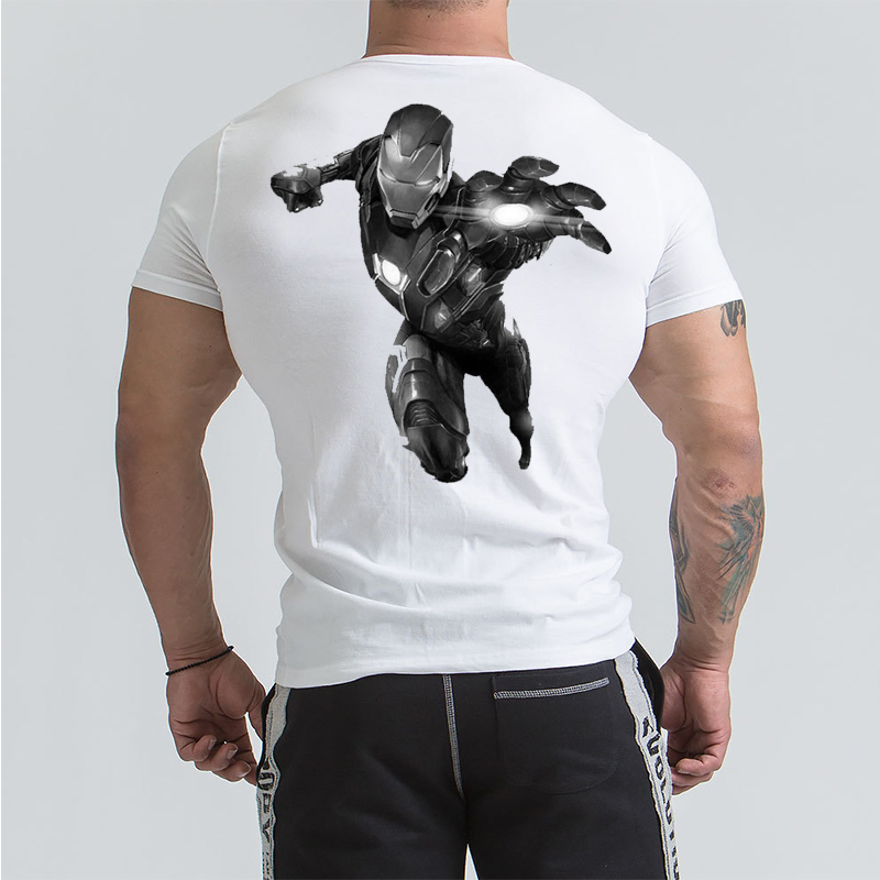 Iron Man Men Summer T Shirt Captain America Civil War Tee 3D Printed Avengers GYM Fitness Cool Gray Print Short Slevee T-shirt