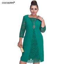 80d1cdac1 COCOEPPS verano vestido mujeres 5XL 6XL del cordón de gran tamaño Sexy  bodycon ropa casual vestidos