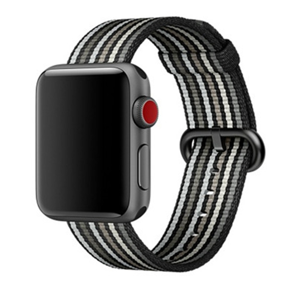 Sport Woven Nylon band For Apple Watch 4 44mm/40mm Strap iwatch series 3 2 1 42mm 38mm wrist bracelet fabric belt correa eimo sport loop strap correa for apple watch band 42mm 44mm 40mm 38mm iwatch series 4 3 2 1 woven nylon bracelet wrist watchband