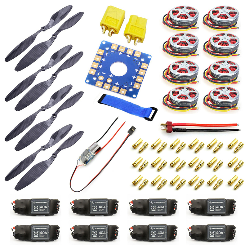 40A Brushless ESC + 14x4.7 3K CF Propeller CW CCW 1447 350KV Brushless Motor ESC Connection Board XT60 T Plug Y05307-C тиски зубр 175мм столярные быстрозажимные эксперт 32731 175