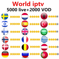 World IPTV Subscription For Android TV Box With European Sweden Arabic French Spain Germany Dutch UK