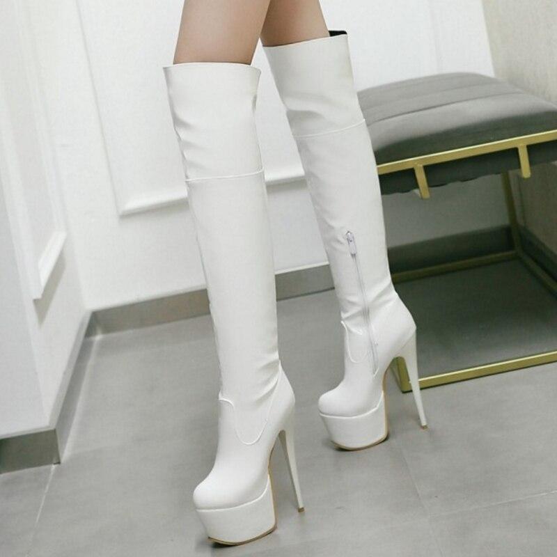 ᗐSJJH femmes bottes talons aiguilles bout rond en cuir