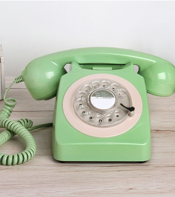 fashion 1951 wired fitted antique vintage household Rotate dial telephone