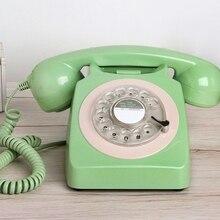 Moda 1951 cableado antiguo vintage teléfono hogar dial giratorio teléfono
