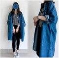 Larga de las mujeres Chaqueta de Punto 2017 del Invierno de la Cachemira chaqueta de Punto Color Sólido mujeres embarazadas chaqueta de jeans de mezclilla 15991X