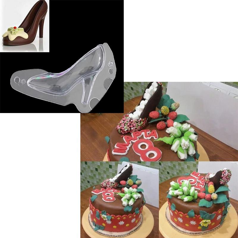 Delidge 1 шт. 3D туфли на высоком каблуке шоколадного торта Пластик помадка женские туфли на высоком каблуке торт решений инструменты, посуда для...